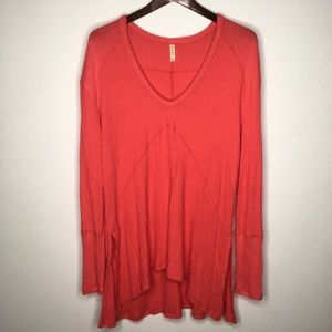 Free People Sunset Park Thermal in Coral Size S